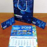 Набор - Календарь Трио, Поздравительные открытки, Бумажный пакет
