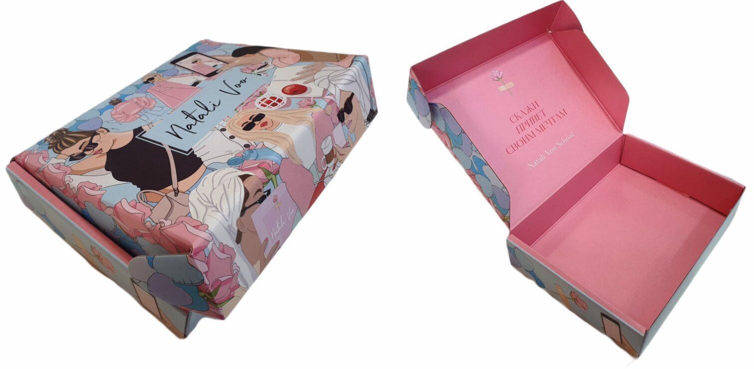 Коробка самосборная с двухсторонней печатью