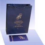 Пакет с приглашением синий
